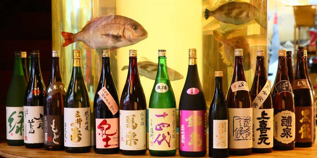 大きないけすと稀少な日本酒