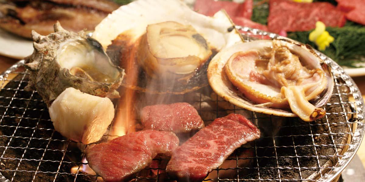 海鮮と焼肉の炭火焼
